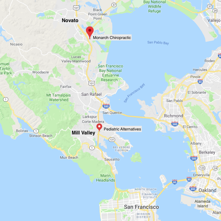 FIT2B Thermography Location Map of Marin County